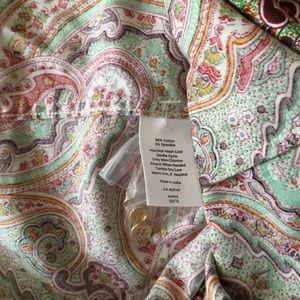 Talbots Tops - Talbots women button front Shirt Blouse Paisley